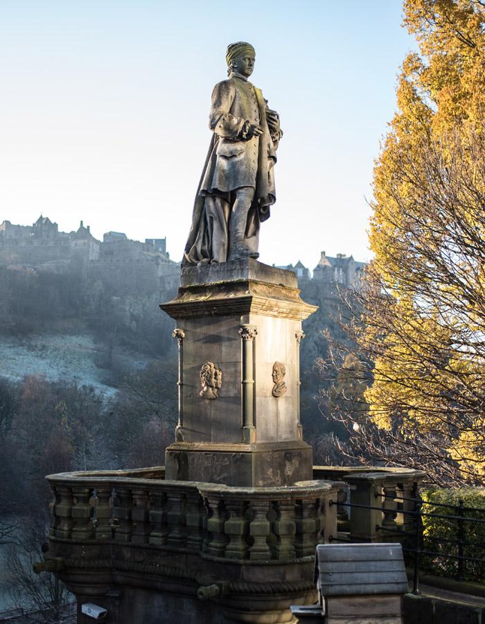 Statue in Princes Street Gardens Edinburgh