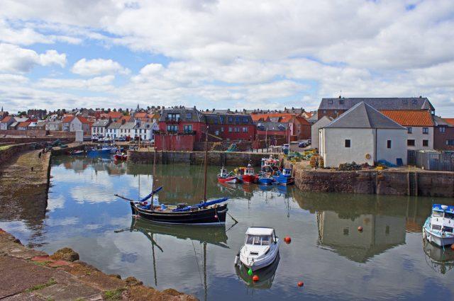 Dunbar Harbour in East Lothian