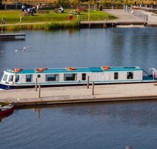 Boat at Falkirk Wheel Visitor Centre