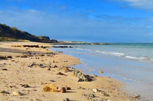 Gullane Beach on a sunny day