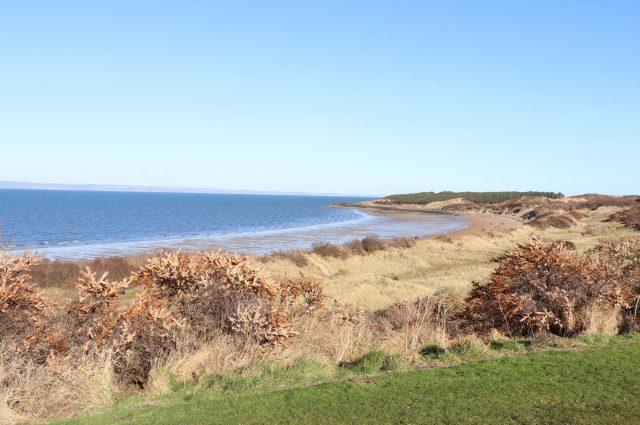 View above Gullane Beach, East Lothian