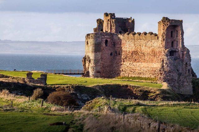 View of Tantallon Castle North Berwick