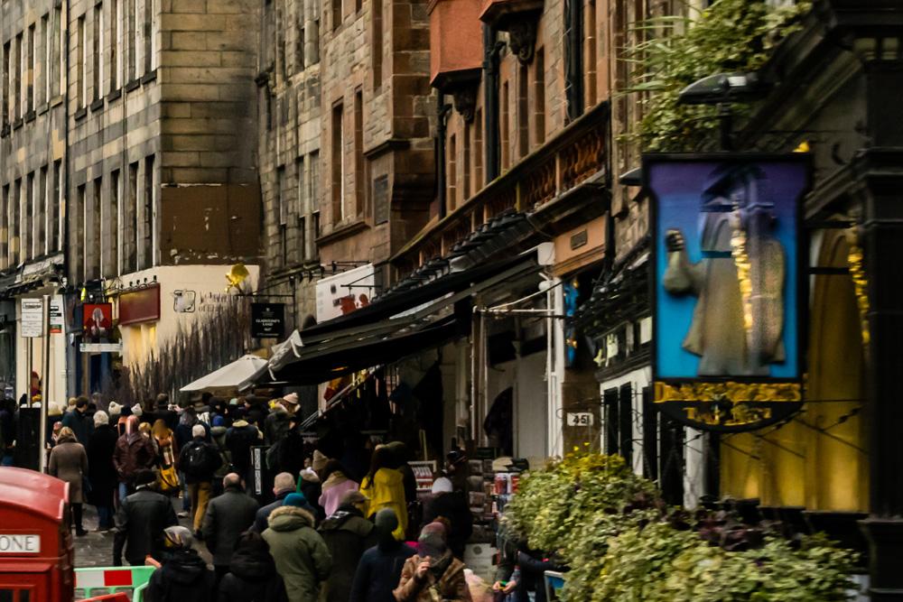 Lawnmarket on Edinburgh Royal Mile