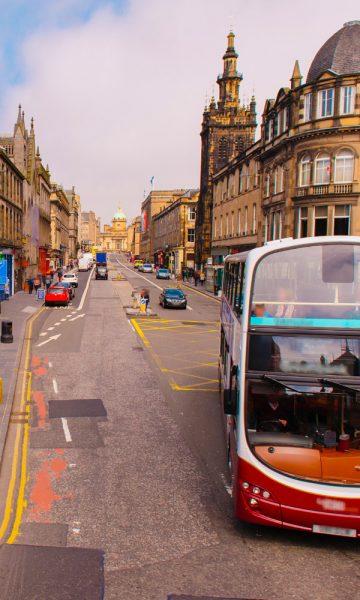 Traffic on George IV Bridge in Edinburgh