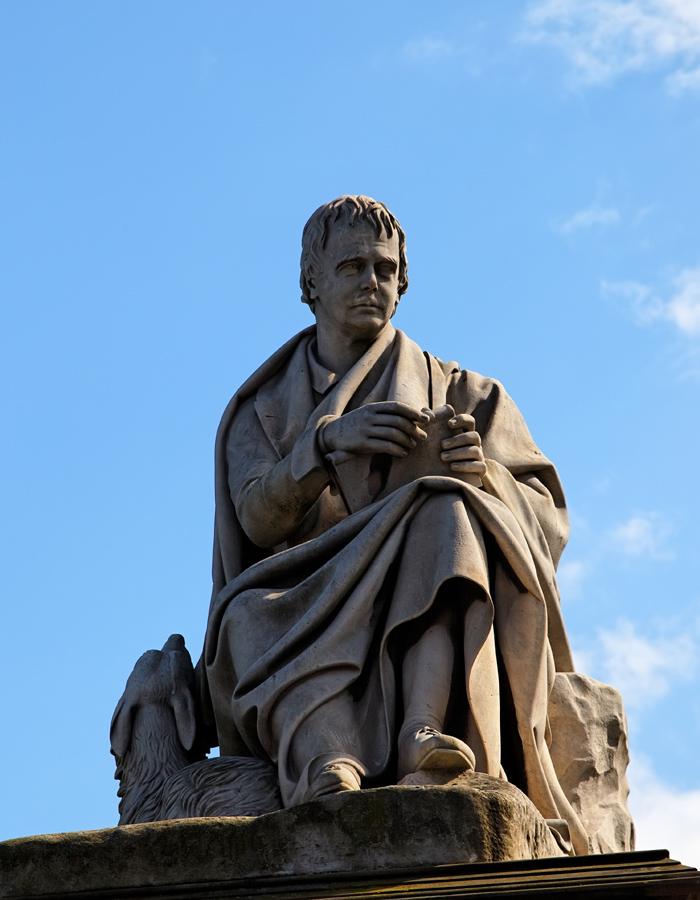 Statue of Sir Walter Scott, part of the Scott Monument