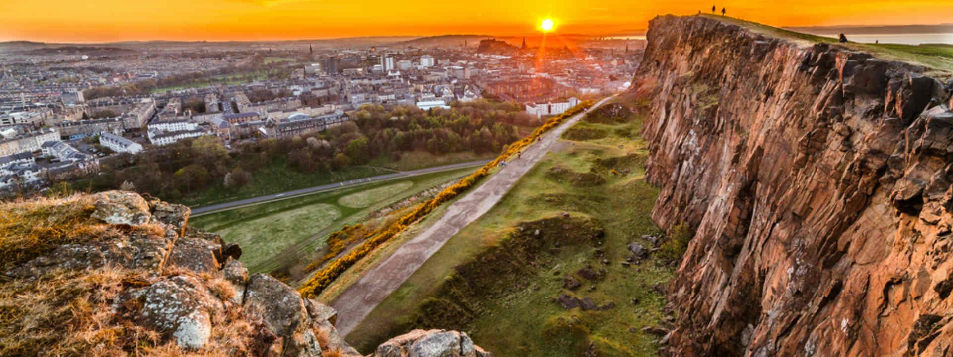 Edinburgh view from Arthurs Seat