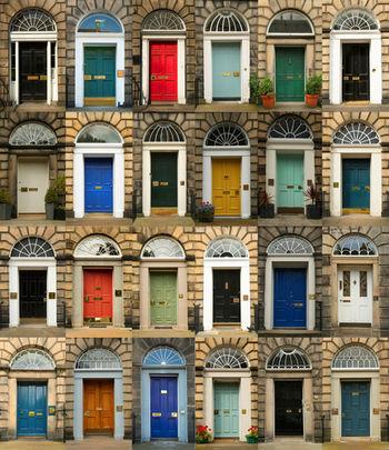 Collage of doors in Edinburgh