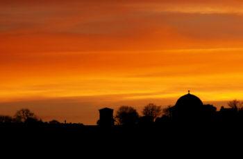 Beautiful sunset over Calton Hill