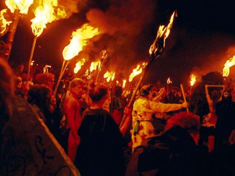 Fire festival underway