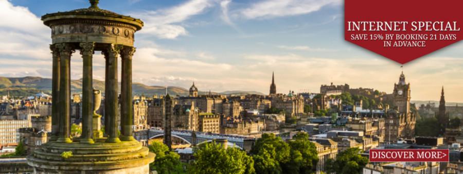 View of Edinburgh City from Carlton Hill