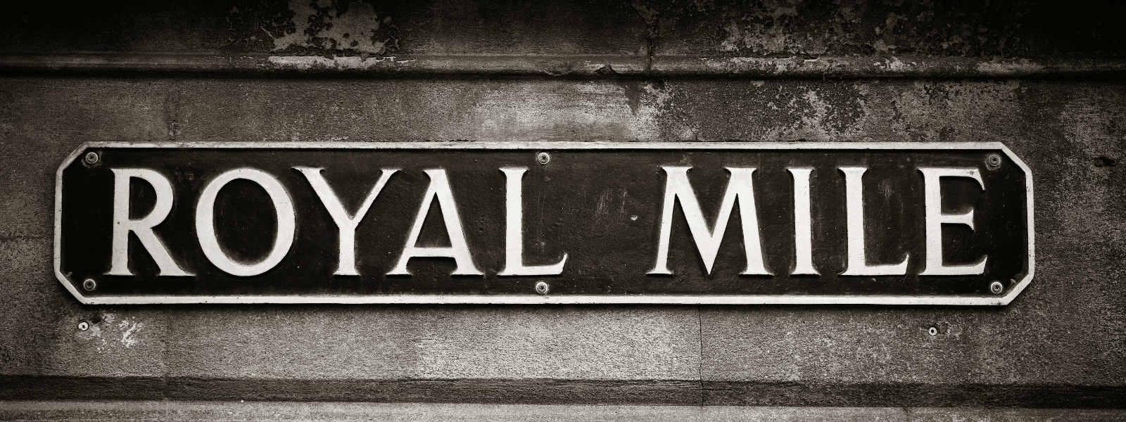 Royal Mile street sign
