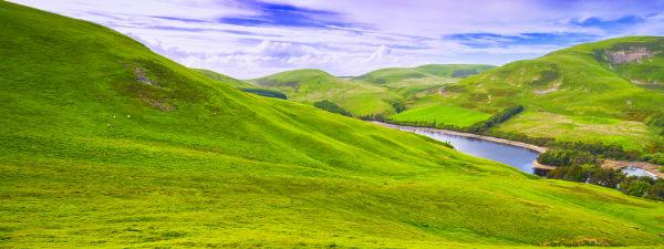 The rolling Pentland Hills just south of Edinburgh