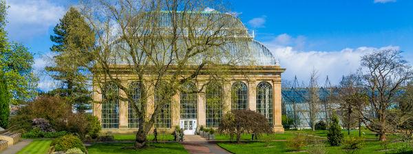 Beautiful greenhouse in the Royal Botanic Gardens Edinburgh
