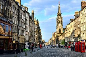 Historic street in Edinburgh - The Royal Mile