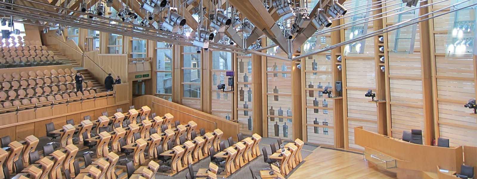Inside Scottish Parliament