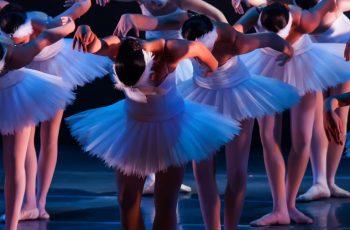 Group of ballerinas in white tutus