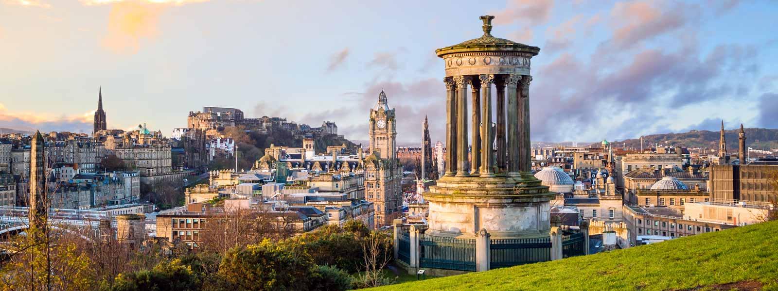 View from Calton Hill in Edinburgh