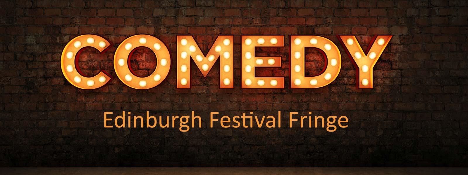 Brick wall with writing Comedy Edinburgh Festival Fringe