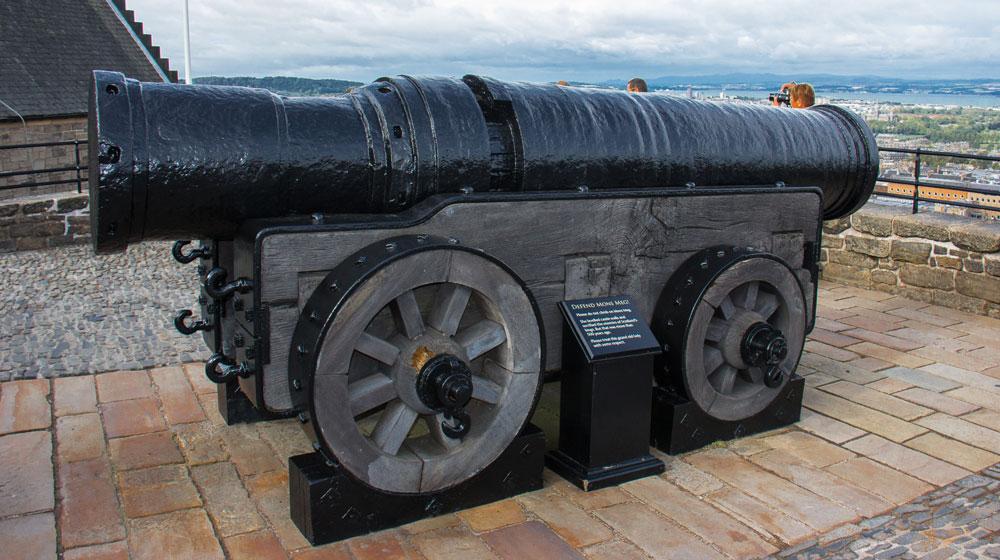 Mons Meg large canon at Edinburgh Castle