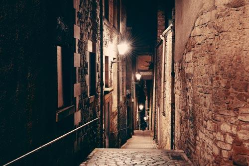 Edinburgh Close at Night