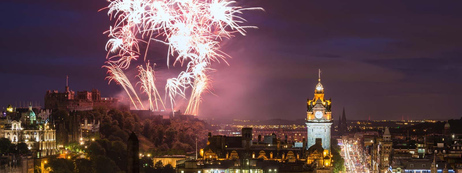 Hogmanay Fireworks in Edinburgh