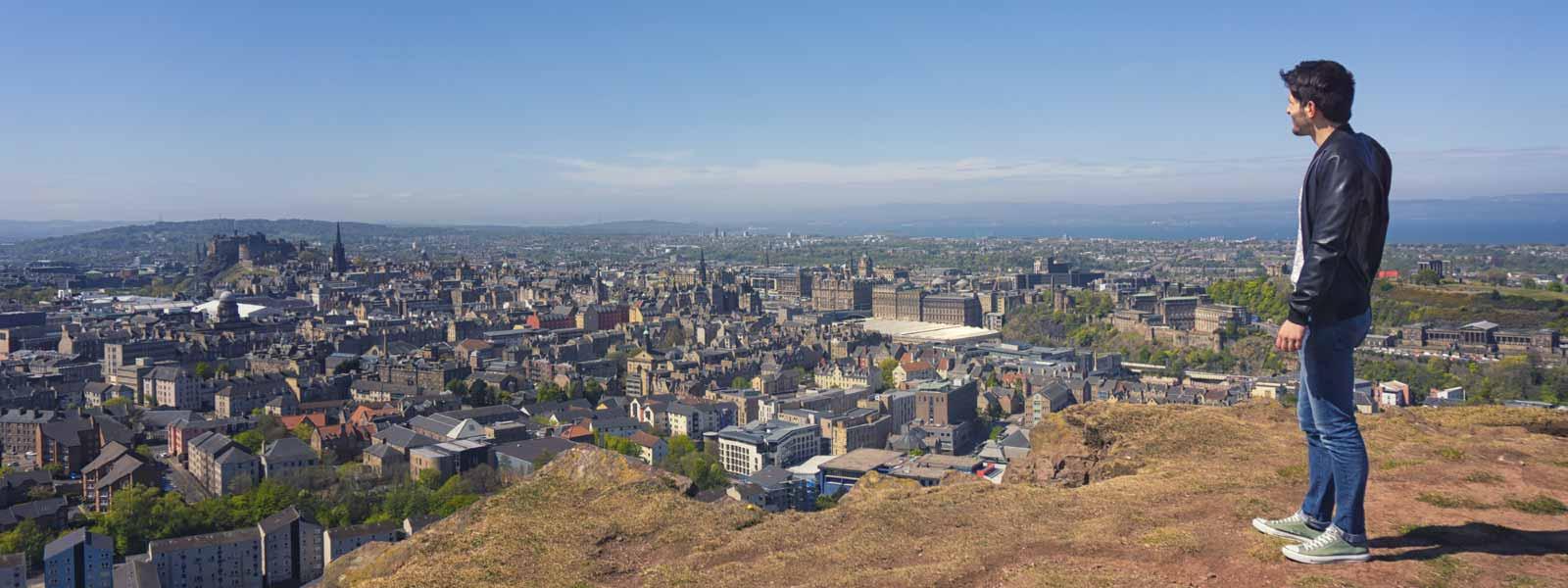 View of Edinburgh from Salisbury Crags