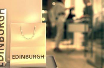 Edinburgh bags in a shopping centre