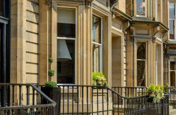 Row of houses in Edinburgh's West End