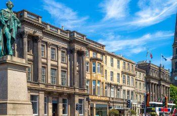 Street view of George Street in Edinburgh New Town