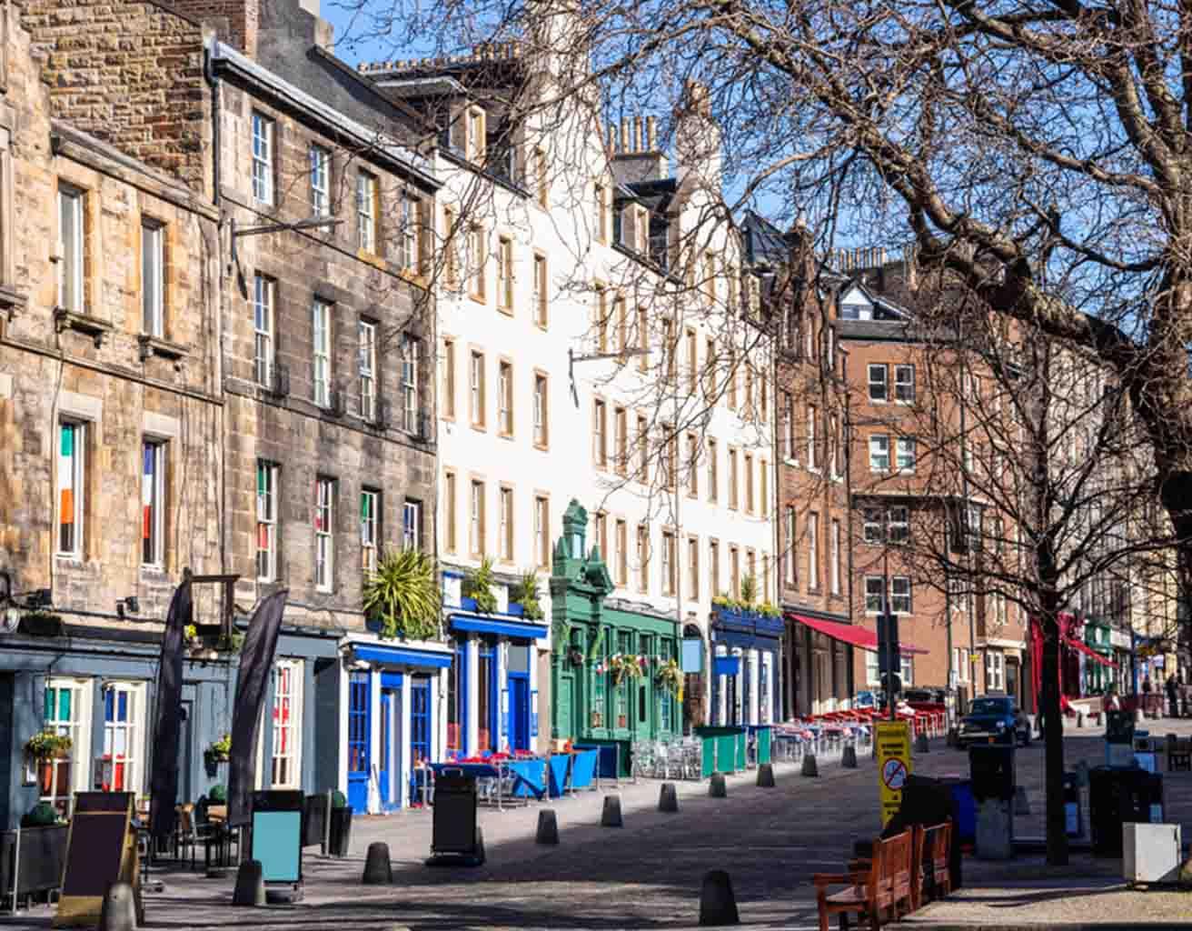 Edinburgh's Grassmarket in winter