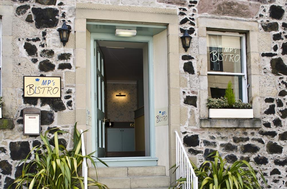 Entrance to MPs Bistro Edinburgh