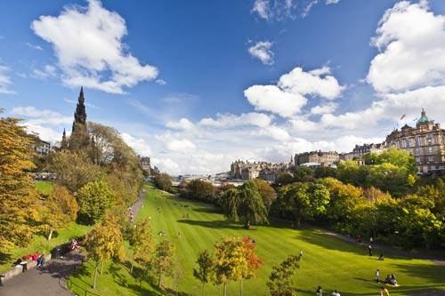 Princes Street Gardens in Edinburgh