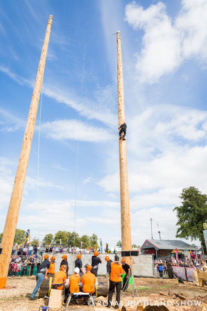 Pole Climbing at the Royal Highland Show