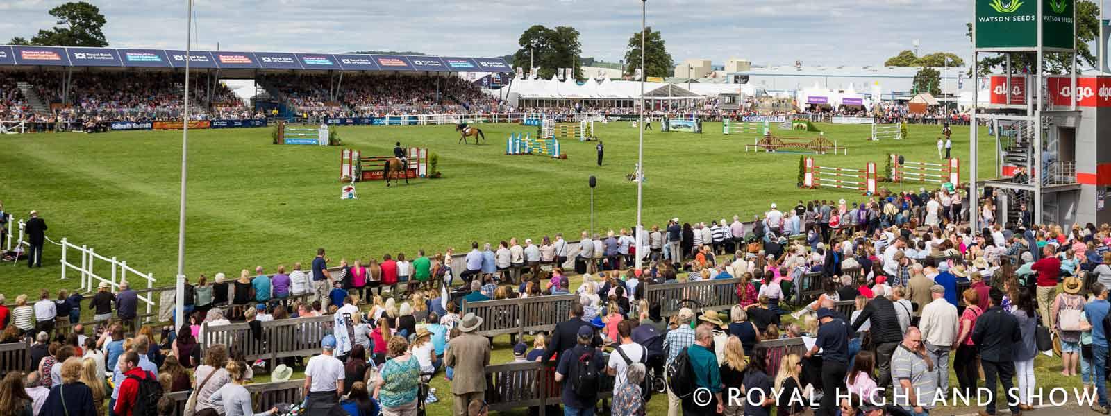 Main Ring at the Royal Highland Show in Scotland