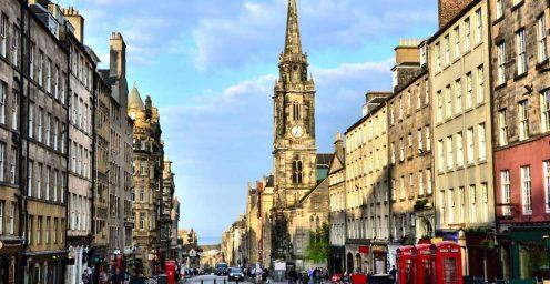 Street view of the Royal Mile in Edinburgh