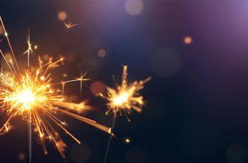 Sparklers at a festival or celebration