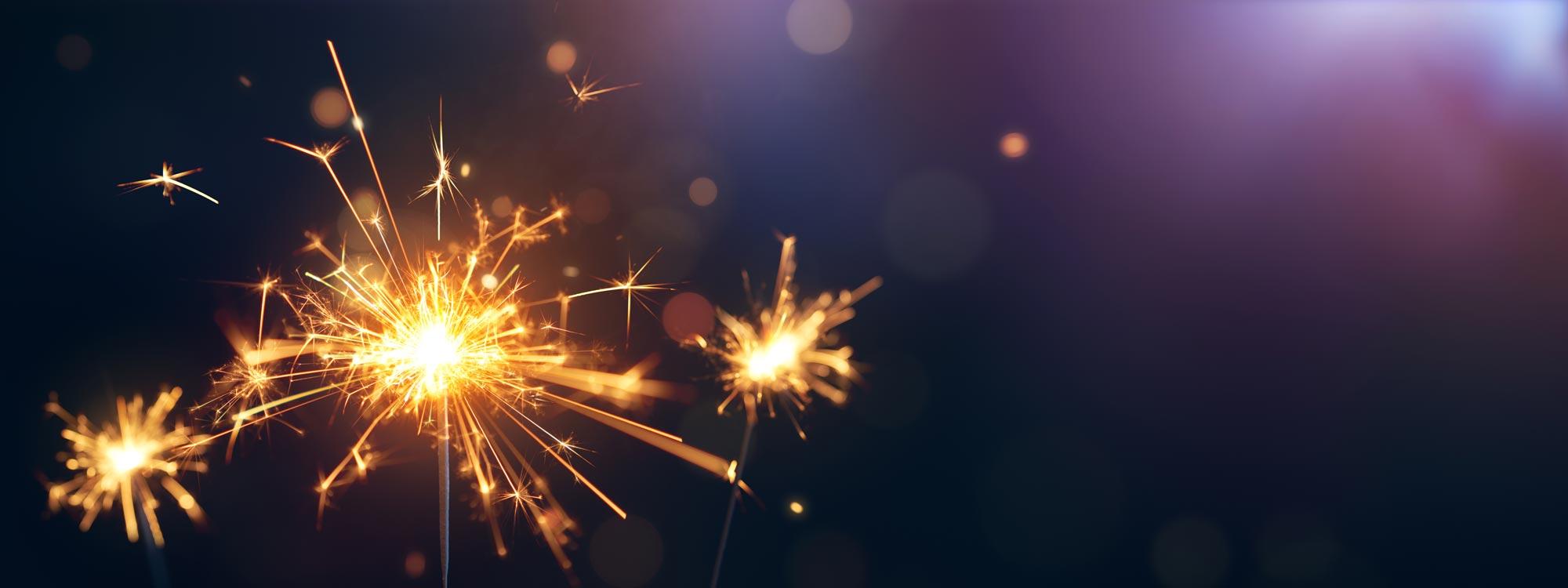 Sparklers at a celebration or festival