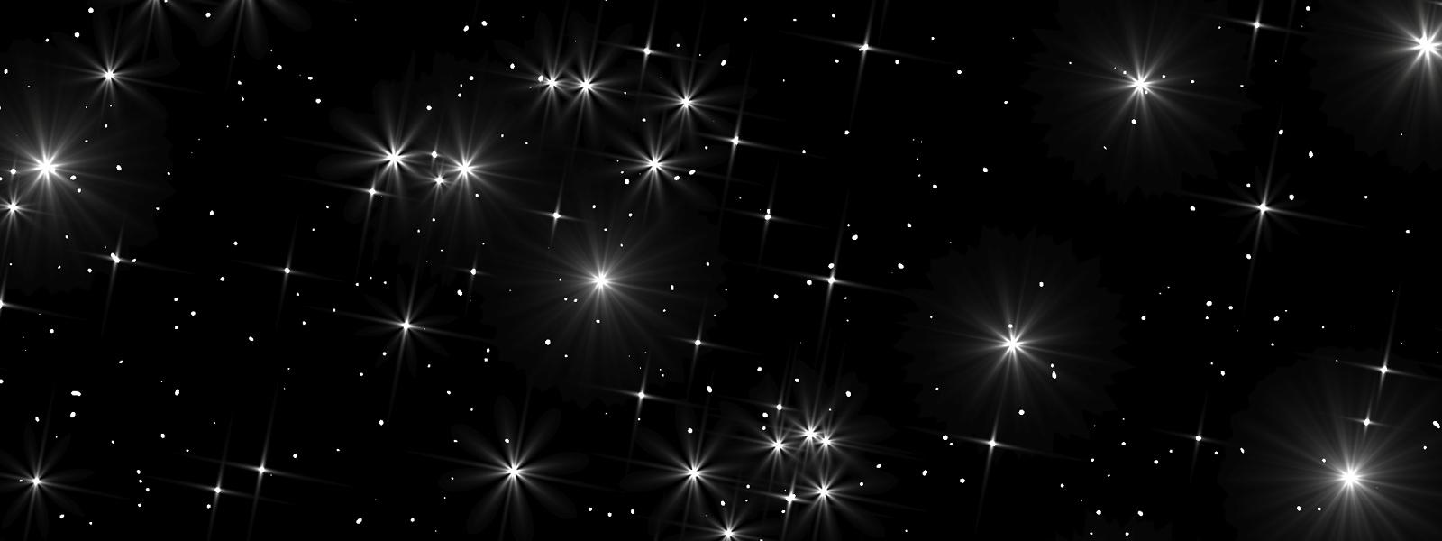 Stars against a black night sky