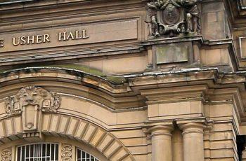 Ornate exterior of the Usher Hall in Edinburgh
