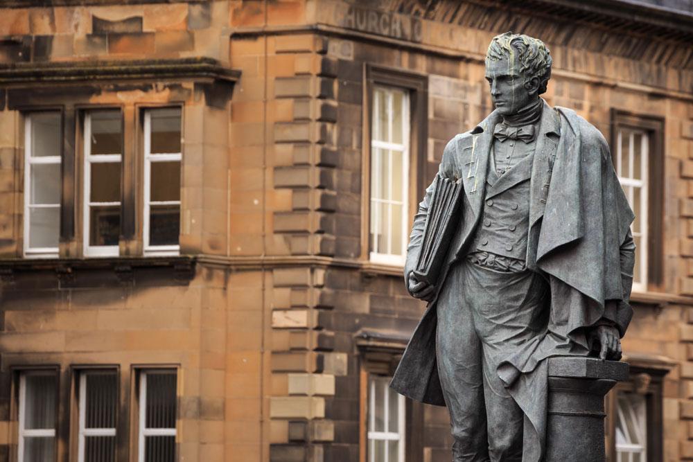 Statue of William Henry Playfair on Chambers Street Edinburgh